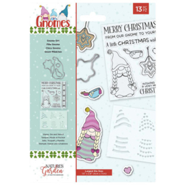 Gnome Girl Christmas Stamp & Die Set - Crafter's Companion