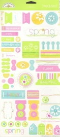Spring Tag & Tabs Cardstock Stickers