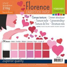 Cardstock multipak Valentine 12x12 - Florence