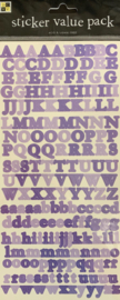 Sticker Value Pack Alpha Purple - DCWV