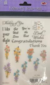 Card Bouquet Rub-ons - Provo Craft