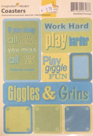 Coasters Dig it? Rectangles - Clhoe's Closet Collection