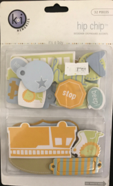 It's a Boy Hip Chipboard Accents