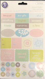 Essentials Colorful Cardstock Stickers Just Married