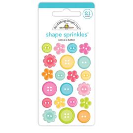 Cute & Crafty Shape Sprinkles Cute as a Button - Doodlebug
