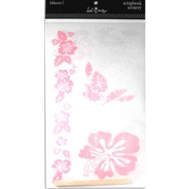 Scrapbook Scenery Hibiscus 2 Stickers - Heidi Swapp