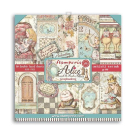 Alice Trough the Looking Glass 6x6 Paper Pack - Stamperia