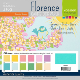 Smooth Cardstock Paper Spring 12x12 - Florence