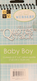 Vellum Quotes Baby Boy - DCWV