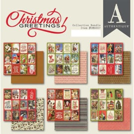 Christmas Greetings paper pad 6x6 - Authentique