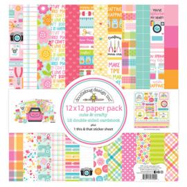 Cute & Crafty Paper Pack 12x12 - Doodlebug