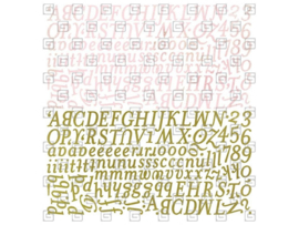 Alphabet Stickers - Sugared Collection Basic Grey