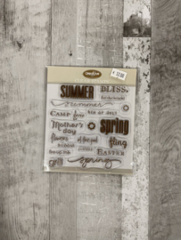 Creative Cafe Summer Clear Stamps - Creative Imaginations