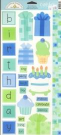Birthday Boy Cardstock Stickers