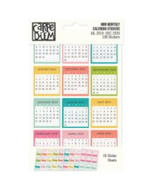 Mini Monthly Calendar Stickers Jul 2019-Dec 2020