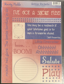 Cardstock Coupons Bottle Rockets - Rusty Pickle