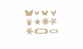Chipboard Mini Variety Pack Raw 111 pieces - Heidi Swapp