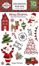 A Perfect Christmas by Lori Whitlock Rub-Ons - Echo Park