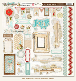 Chipboard Elements - All is Bright Collection