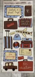 Sandra Magsamen Travel Stickers - Creative Imaginations