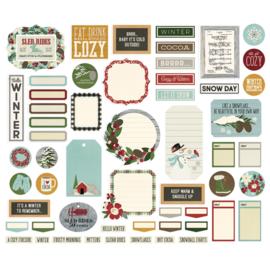 Winter Farmhouse Journal Bits & Pieces - Simple Stories