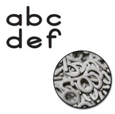 "Bethany mini Alphabet Chipboard Set (0,6""-1,0"") Maya Road"
