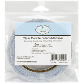 Clear Double Sided Adhesive 6mmx25m Elizabeth Craft Designs