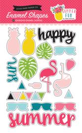 Summer Fun Enamel Shapes Stickers Echo Park