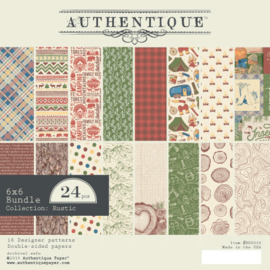 Rustic collection 6x6 paper pad - Authentique