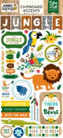 Jungle Safari Chipboard Stickers - Echo Park