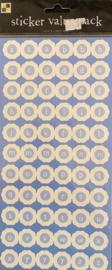 Dollar Sticker Blue - DCWV
