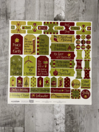Debbie Mumm Christmas Cheer Stickers - Creative Imaginations