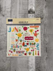 Calendar Rub-ons June - Karen Foster