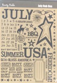 July Rub Ons - Rusty Pickle