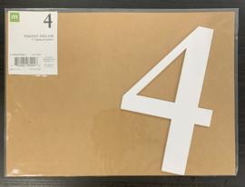 """4 Chipboard Numbers 8"""" - Making Memories"""
