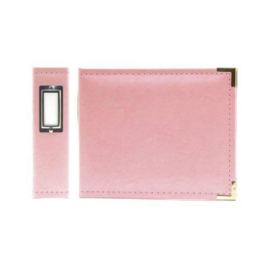 Classic Faux Leather Album Pink ring 6x6 We R Memory Keepers