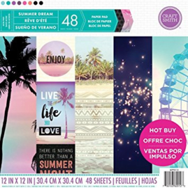 Summer Dream 12x12 Paper Pad 48 sheets Craft Smith