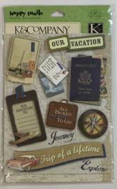 Happy Trails Layered Stickers - K & Company