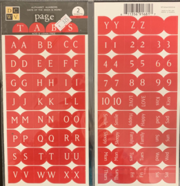 Page Tabs Alpha Red - DCWV