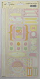 Cardstock Stickers Baby Girl - Paper Salon