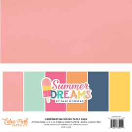 Summer Dreams Coordinating Solids Paper Pack Echo Park