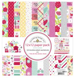 12x12 Paper Pack Love Notes  - Doodlebug