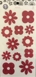 Flourish Glitter Stickers
