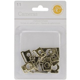 Cameras Chipboard Gold Studio Calico