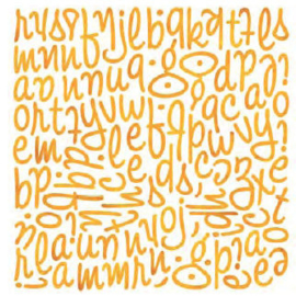 Mini Monogram Stickers - Ambrosia Collection Basic Grey