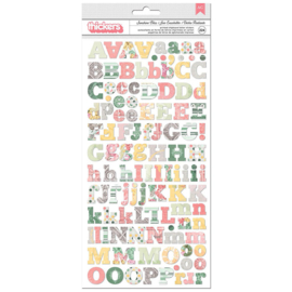 Thickers Chipboard Letter Stickers - Sunshine Bliss Collection American Crafts