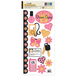 Drama Queen Cardstock Stickers