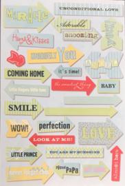 Baby Boy Arrows Stickers