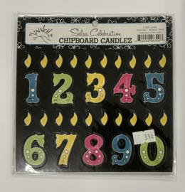 Salsa Celebration Chipboard Candlez - Junkitz