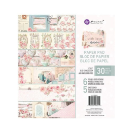 With Love Paper Pad 8x8 - Prima Marketing